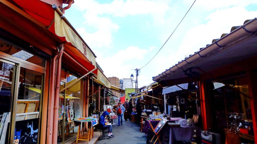 Shops at Puces Saint Ouen; Paris, France