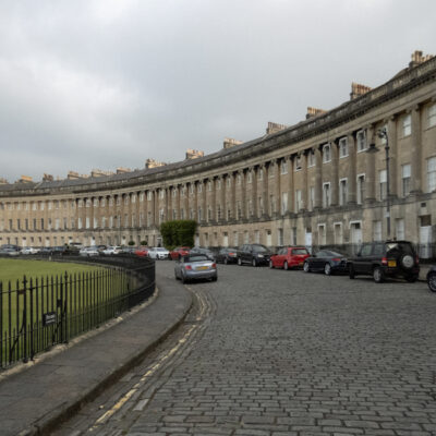 The grand sweep of the Royal Crescent