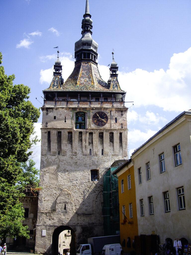 Sighișoara Clock Tower in Transylvania, Romania.