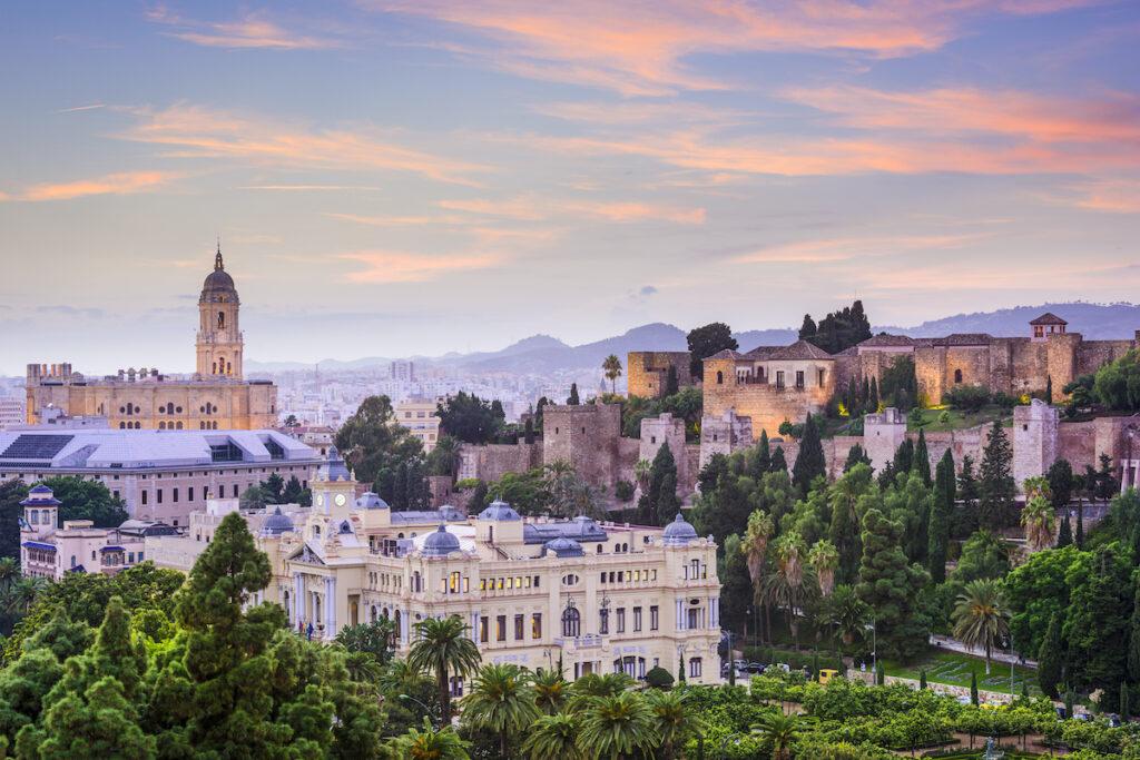 Malaga, Spain skyline