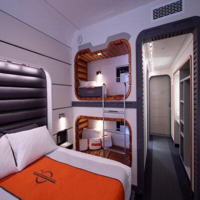 Mock-Up Cabin For Star Wars Galactic Starcruiser