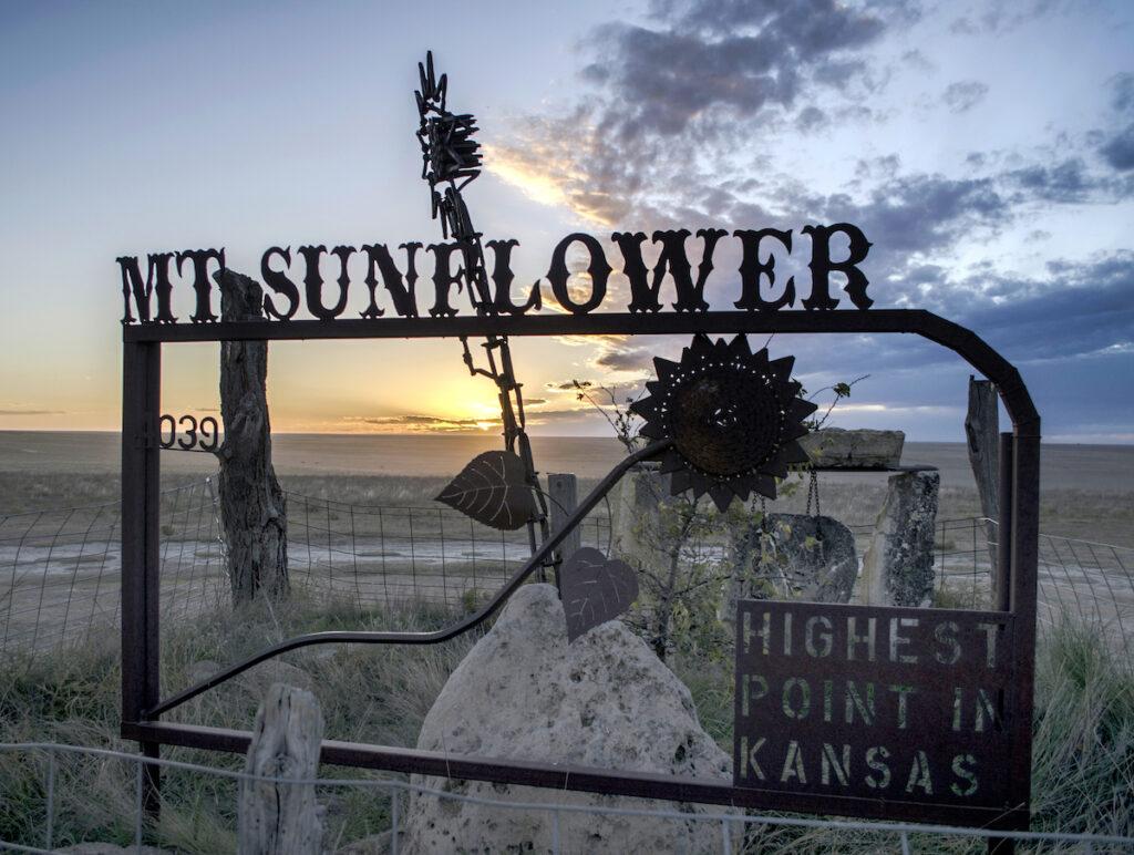 Mount Sunflower, the highest point in Kansas.