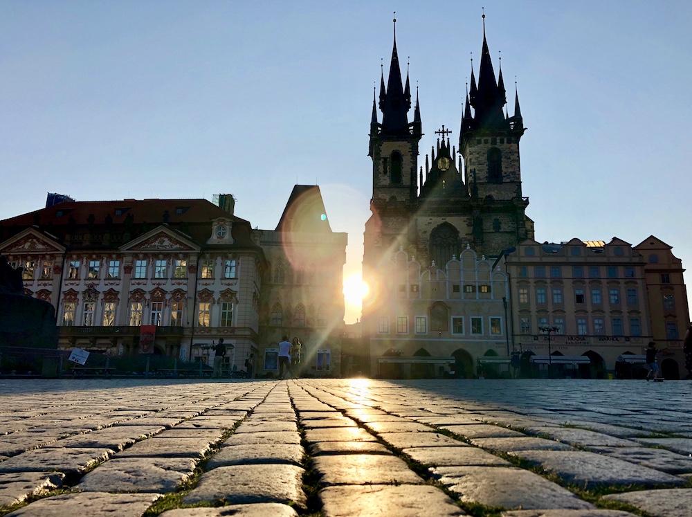 Sunrise at Old Town Square Prague, Czech Republic