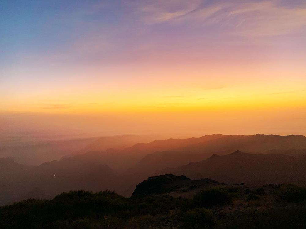 Sunrise in Pico do Arieiro Madeira Portugal