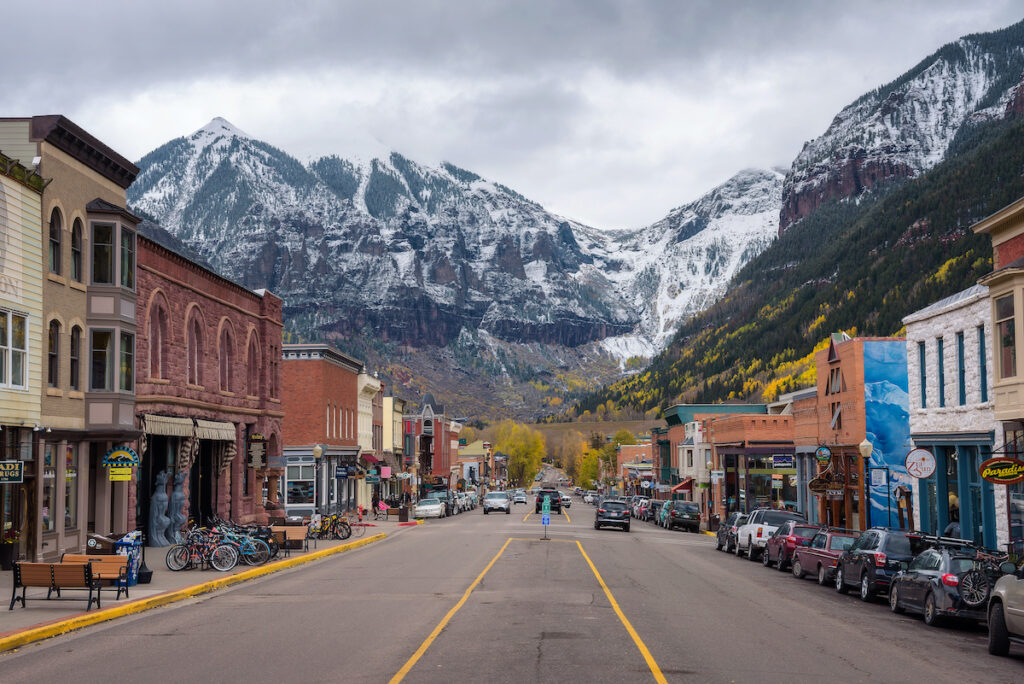 Telluride, Colorado and San Joan Mountaints