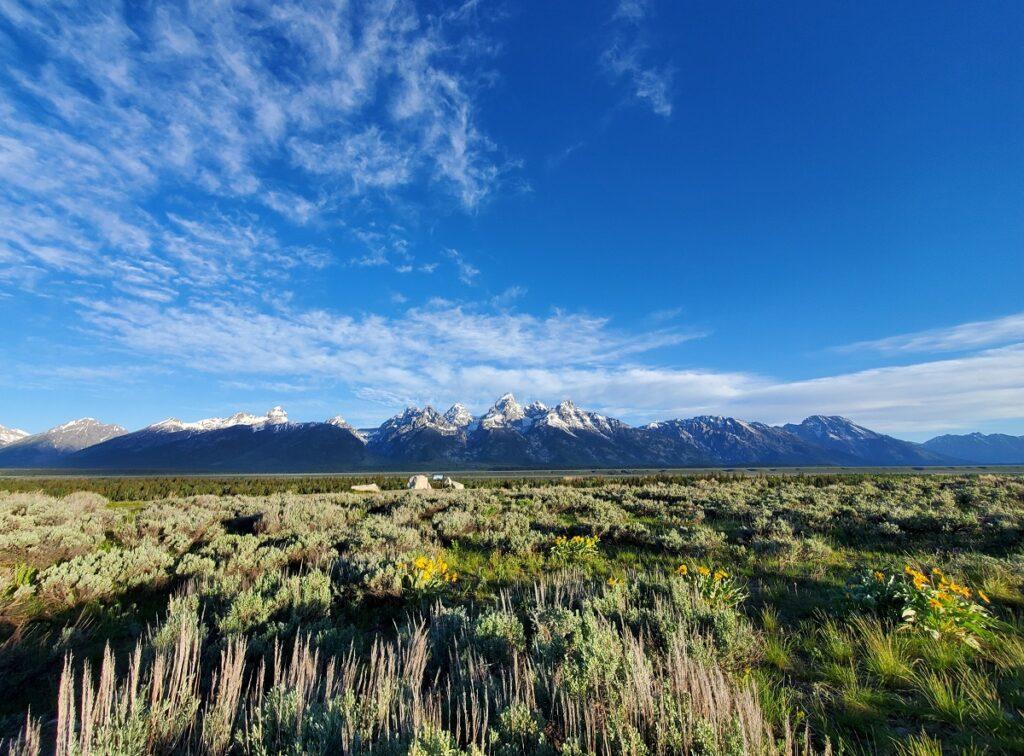 Teton Mountains in Jackson Hole, Wyoming