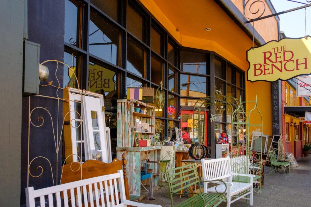 The Banc Rouge antique shop.