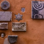 Wall Plaques in the Jewish Ghetto of Rome Italy