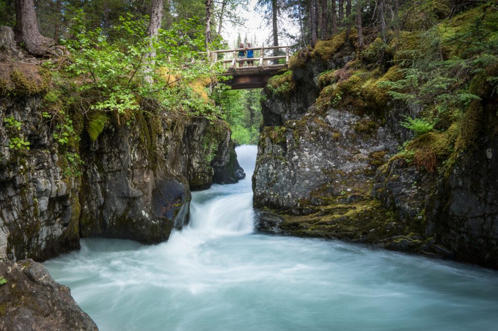 Winner Creek Trail Bridge in Alaska