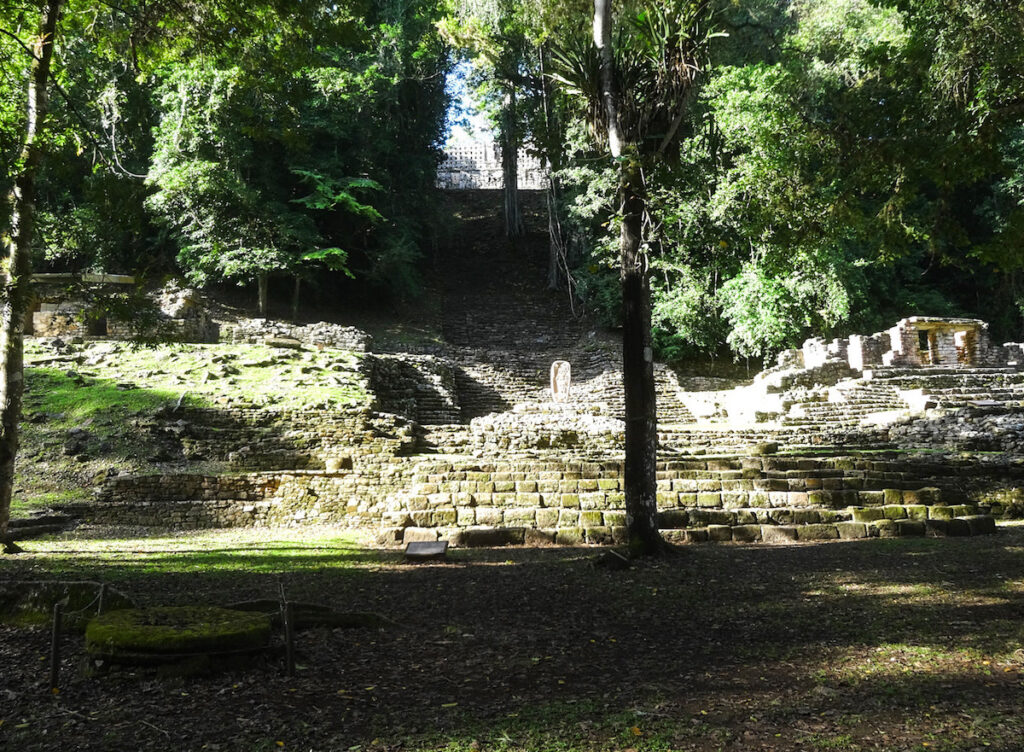 Ancient Mayan site of Yaxchilan, in the jungle of Chiapas, Mexico