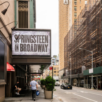 Springsteen on Broadway sign, New York City.