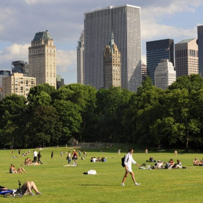 The Great Lawn in Central Park, New York City.