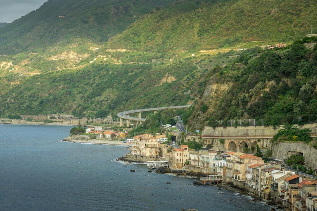 The coastline by Scilla Calabria.