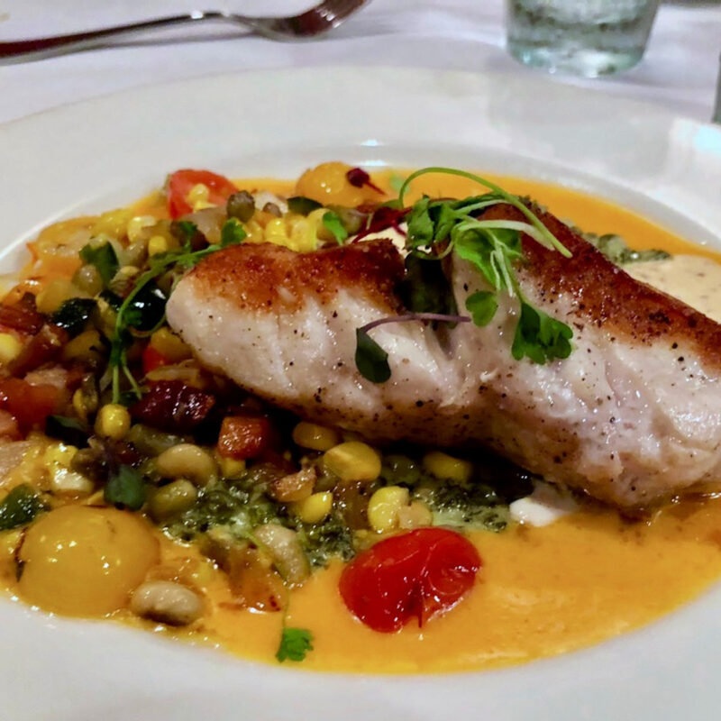 Fish entree from Cypress Restaurant