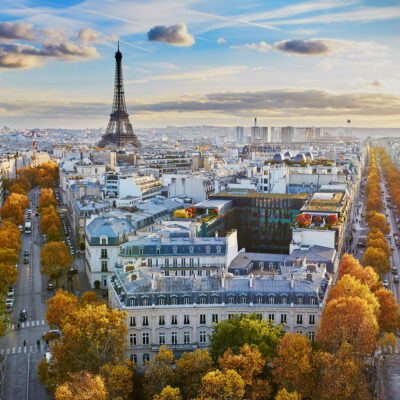Paris, France, during fall.