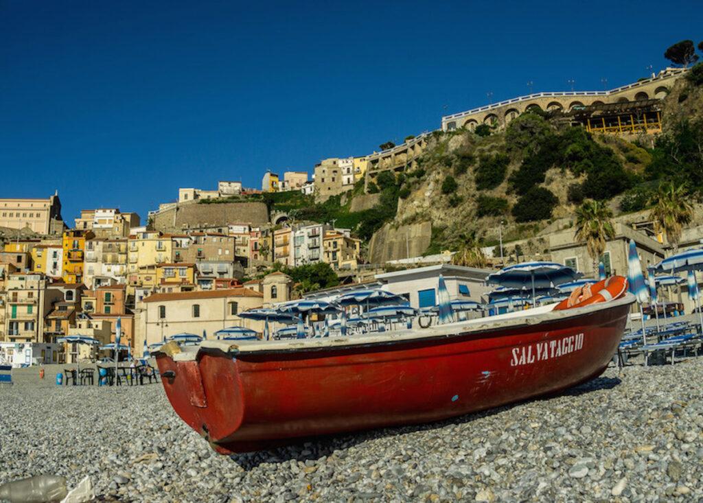 Scilla, Italy from the beach