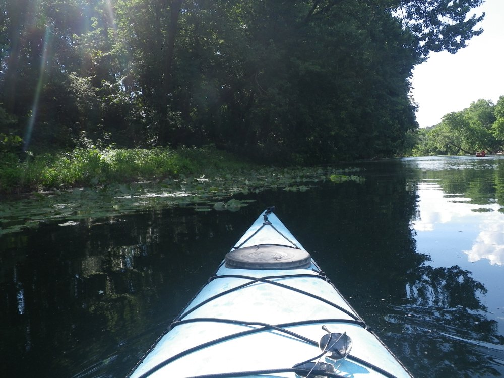 Kayaking on the Gasconade River in Southern Missouri