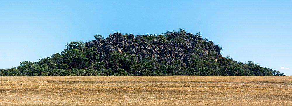 Hanging Rock geological formation in Victoria, Australia.