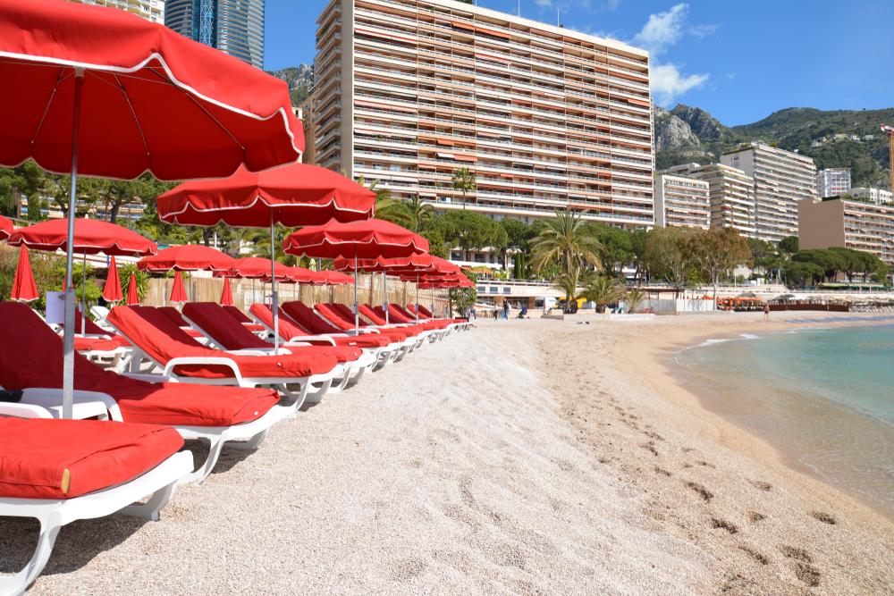 Monte Carlo, Monaco, Larvotto Beach.