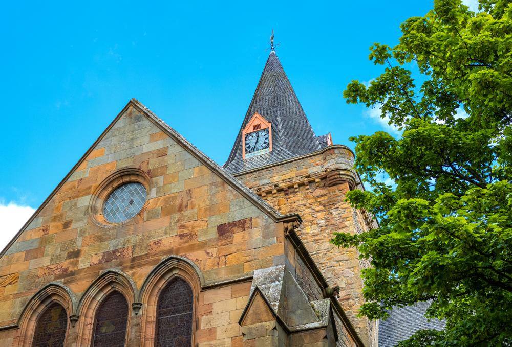 Dornoch, Scotland, ancient cathedral.