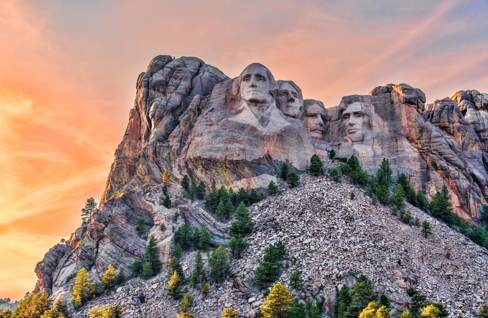 Mount Rushmore National Memorial during fall.