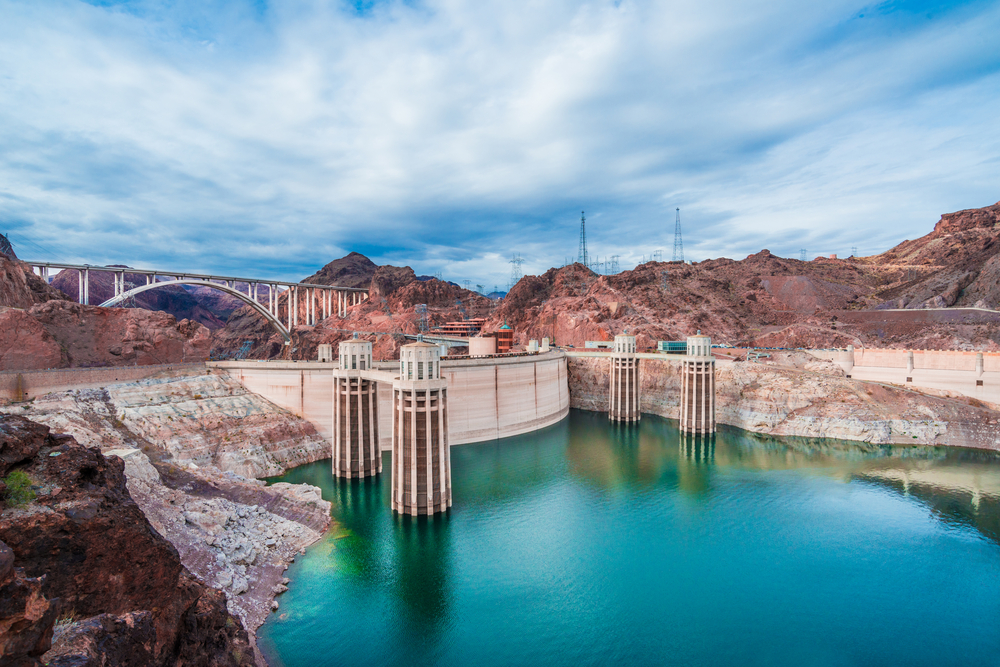 View of the Hoover Dam near Las Vegas in Nevada, USA