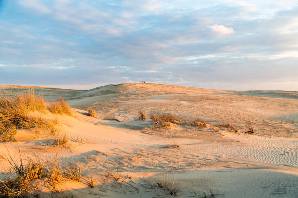 Sunset over the majestic dunes at Jockey's Ridge State Park.