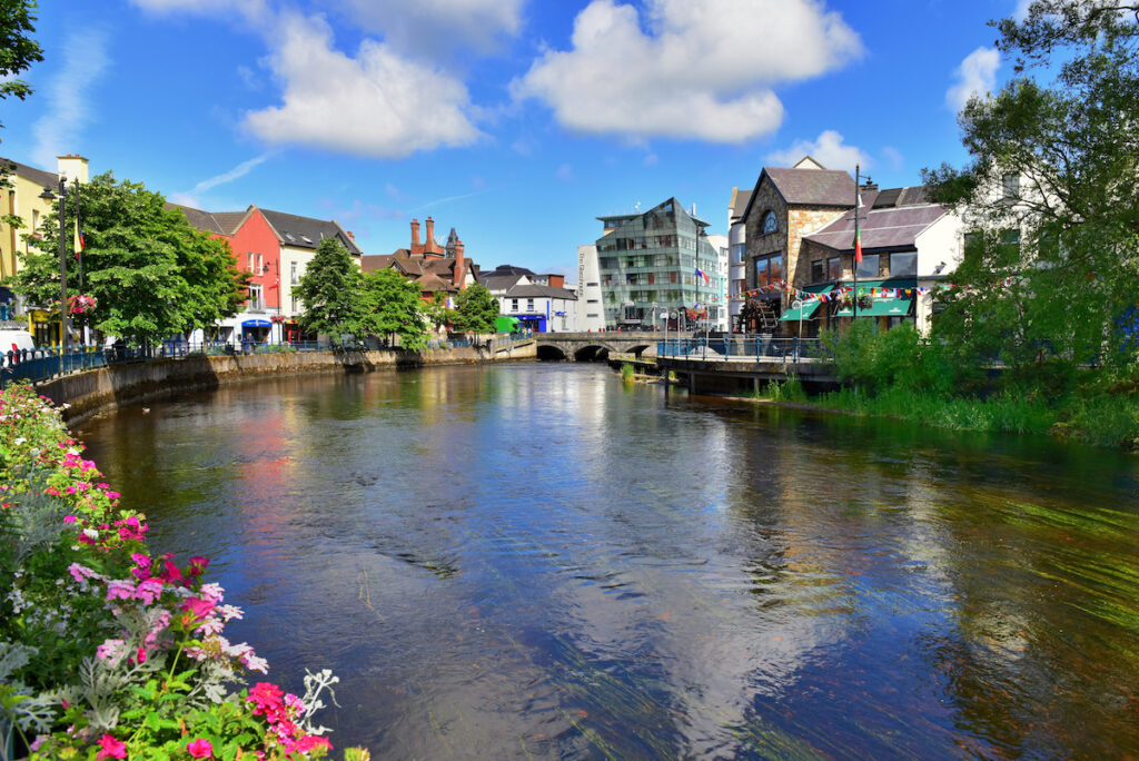 The Garavogue River meanders through Sligo, a bustling town with an ancient history in the northwest of the country.