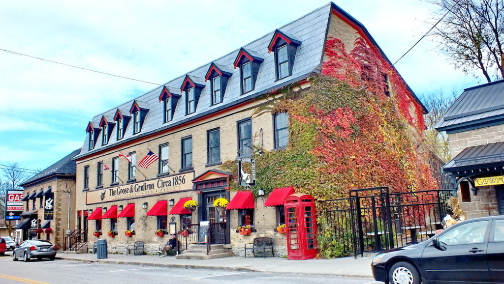The Goose and Gridiron Building in Merrickville, Ontario.