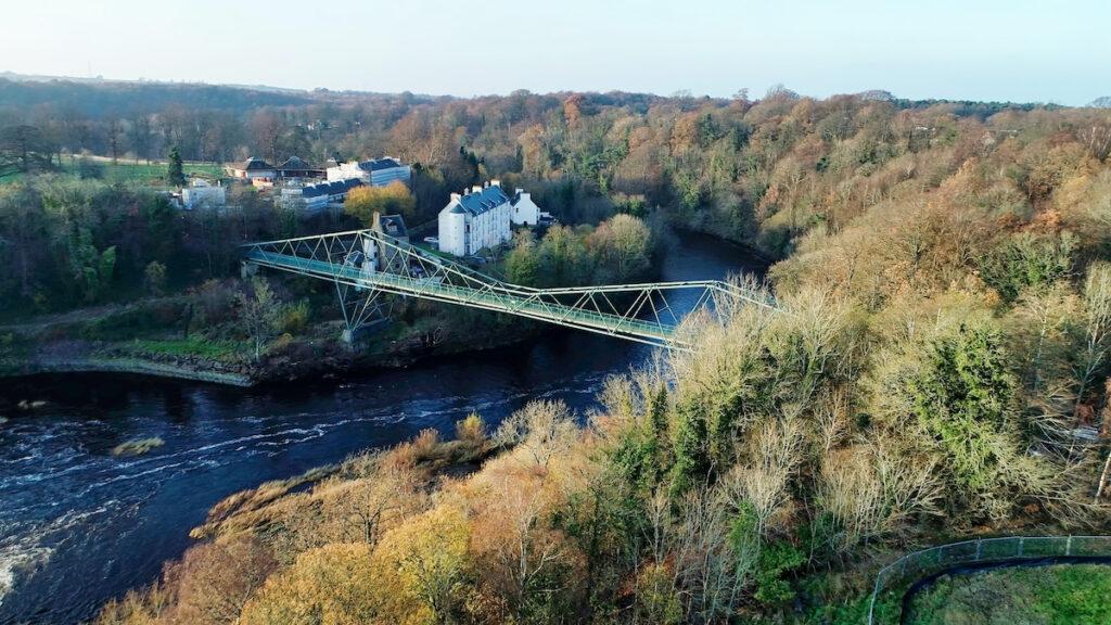 David Livingstone Memorial Bridge in Blantyre, Scotland.