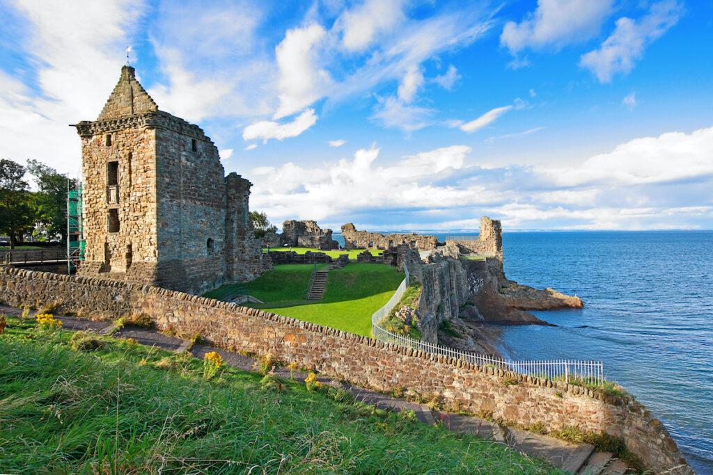 Ruins of St Andrews Castle, Fife, Scotland, United Kingdom.