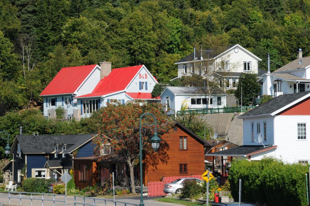 Canada, Quebec, the picturesque village of Tadoussac.