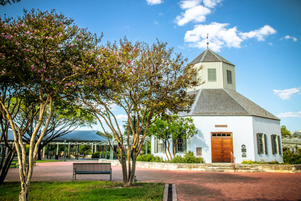View of Vereins Kirche Museum - Memorial to the Pioneer that Settled in the Fredericksburg Area.
