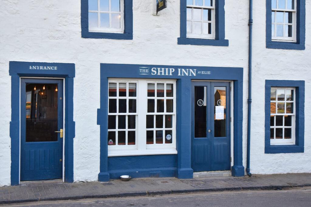 Exterior of Ship Inn, Elie, a famous pub.
