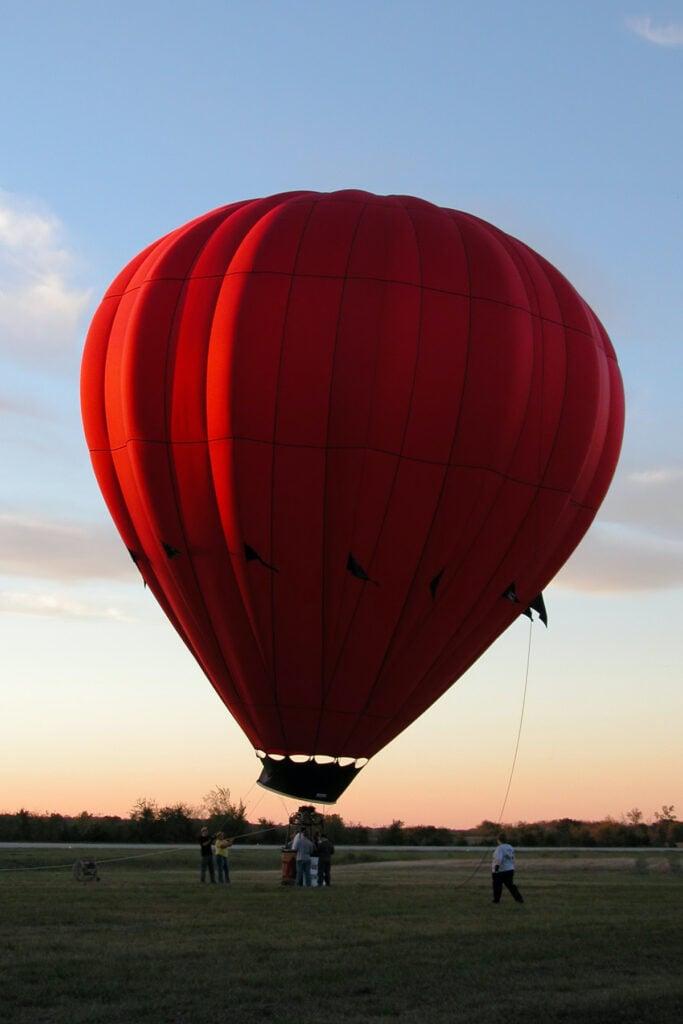 Hot air balloon, from First Annual Hugo Oklahoma Balloon Festival.