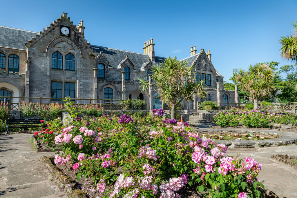 Garrison House community Centre from the garden in Millport, Cumbrae.