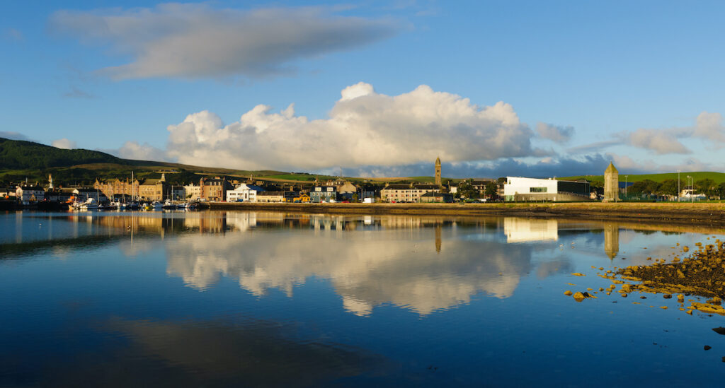 Campbeltown, Scotland, in the morning.