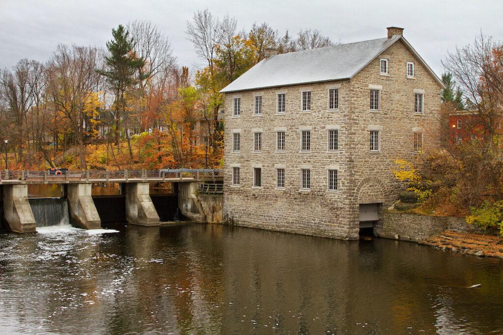 Watson's Mill in Manotick, Ontario, Canada on an autumn morning.