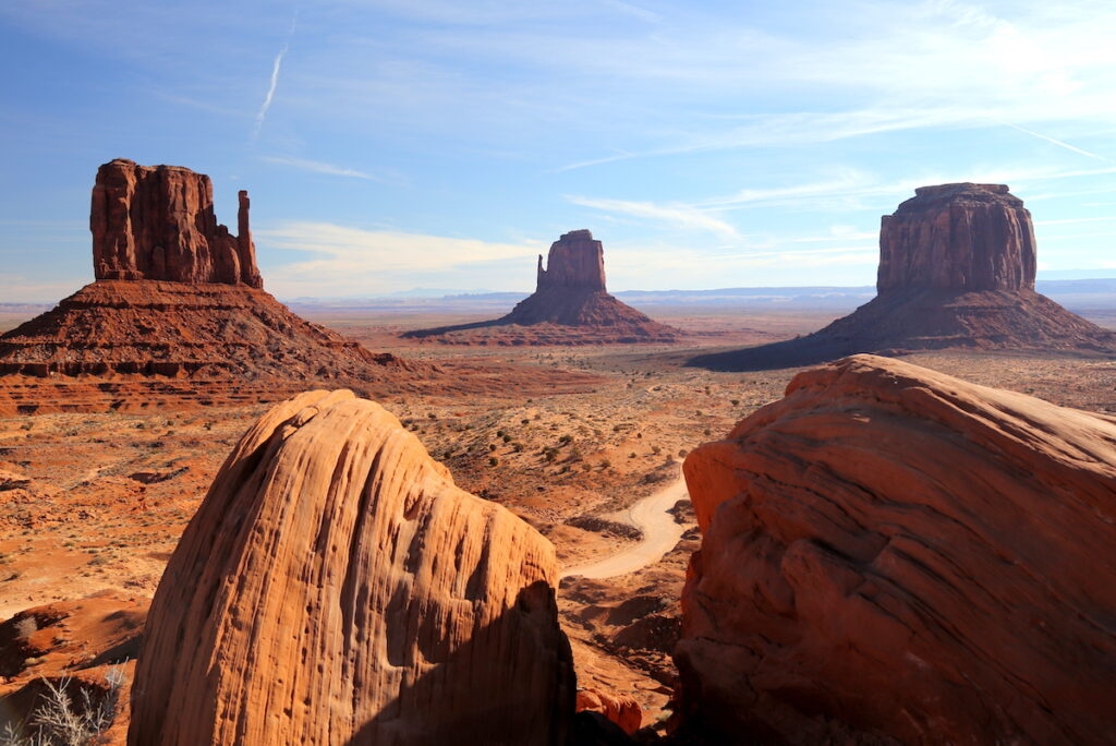 Landscape of Monument Valley.