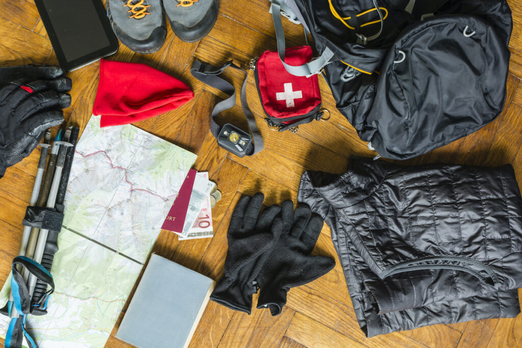 Items to prepare for a treck.