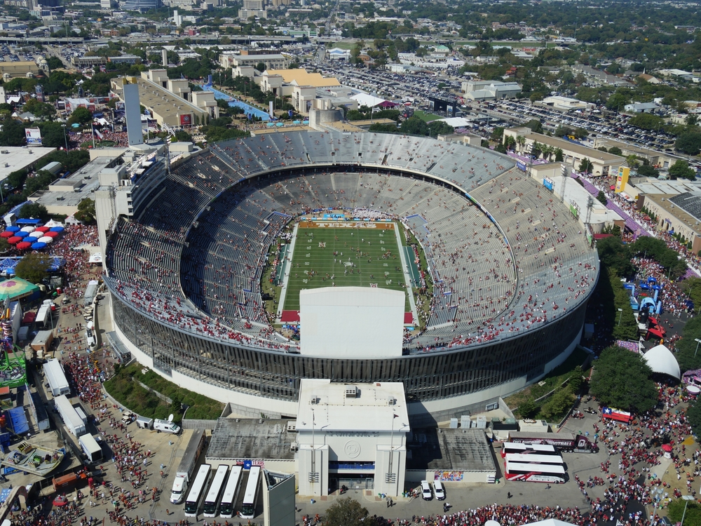aerial view of the Cotton Bowl in Dallas, Texas