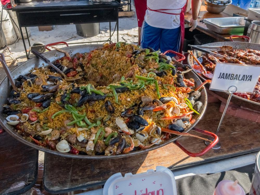 Giant dish of Jambalaya