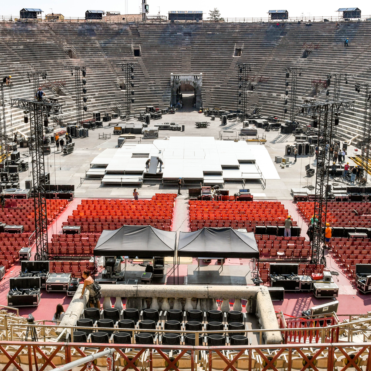 The Arena in Verona, Italy.