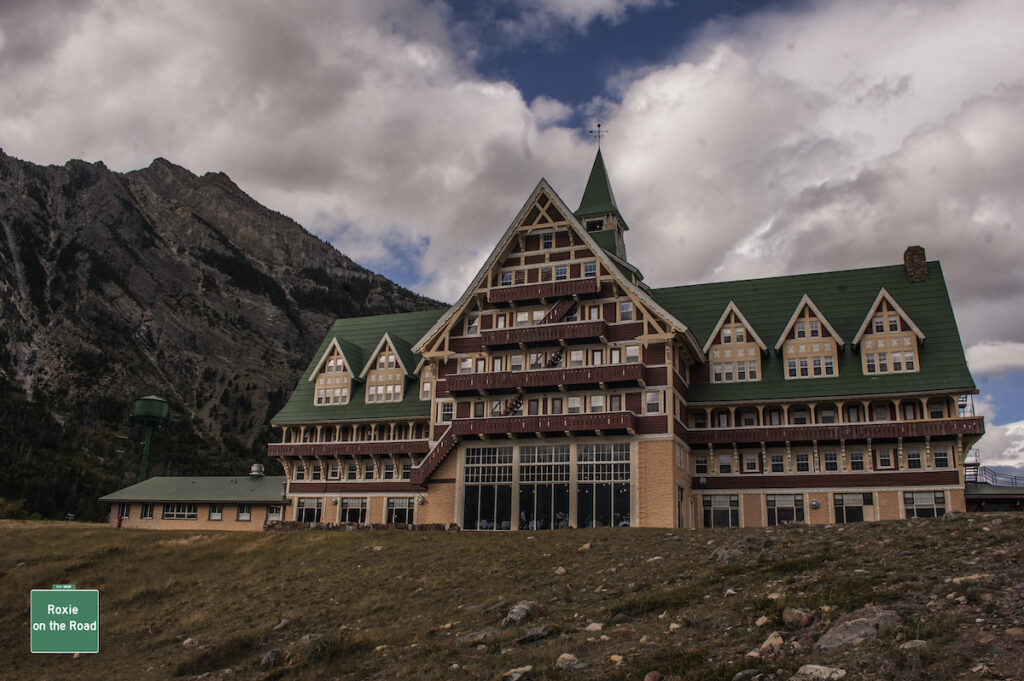 Outside view of Prince of Wales Hotel.