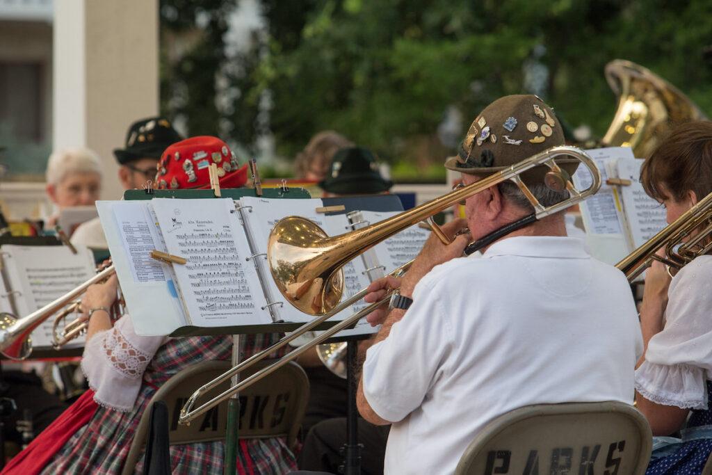 Evening concert, or Abendkonzerte, with the Boerne Village Band.