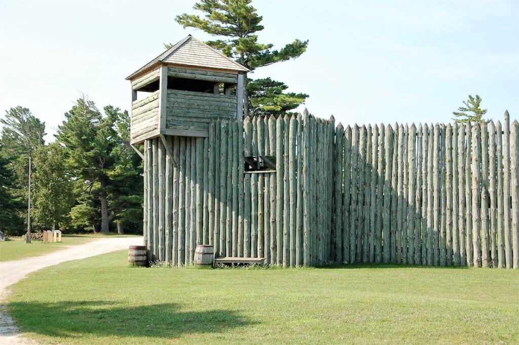 Outside Colonial Fort Michilimackinac