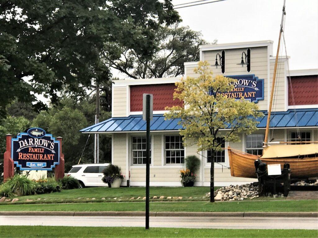 Exterior of Darrow's Family Restaurant and signage.