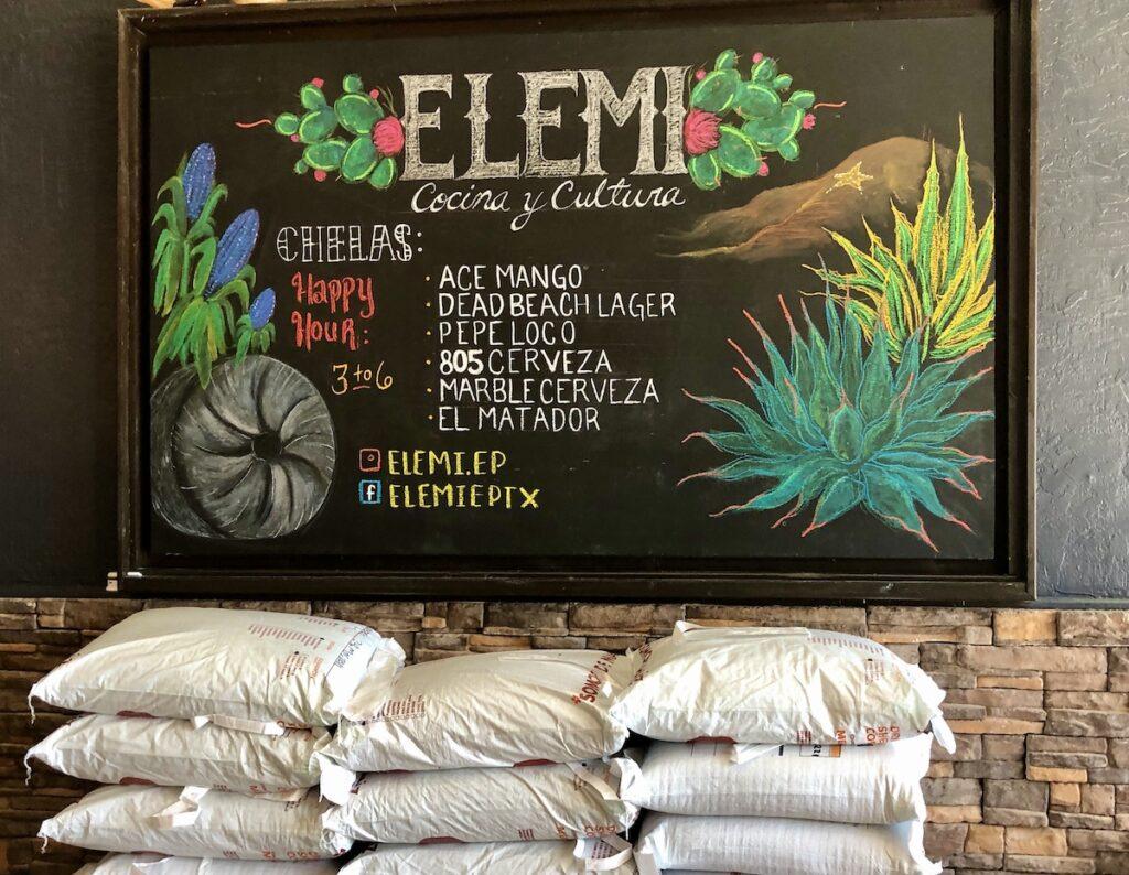 ELIMI interior - heirloom corn - El Paso