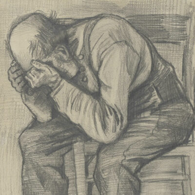 """Portion of """"Study for 'Worn Out,'"""" by Vincent Van Gogh."""