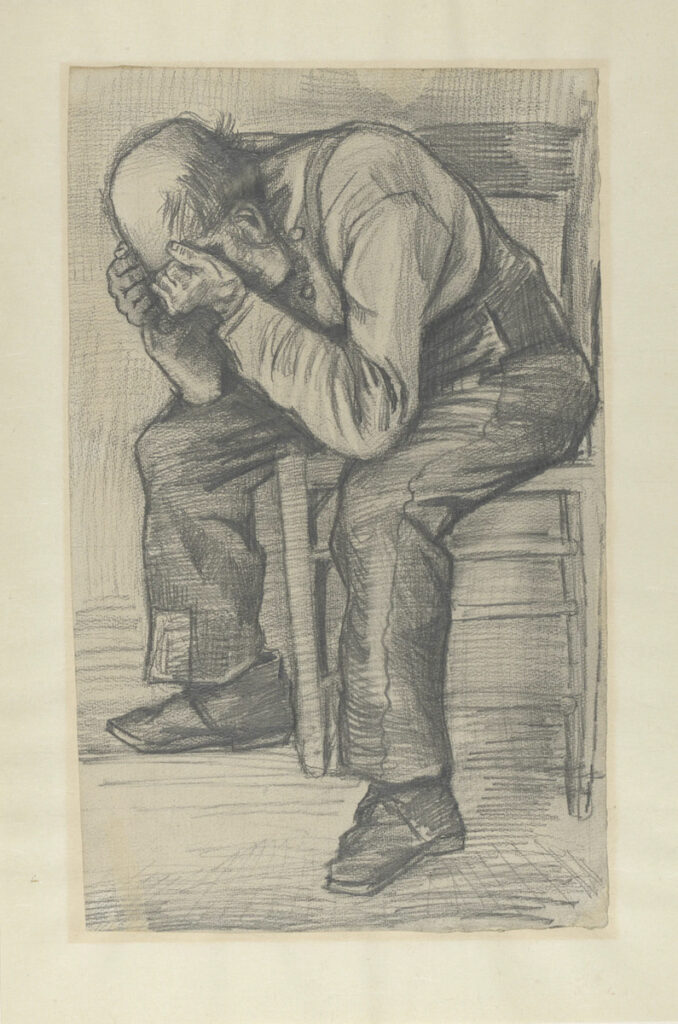 """""""Study for 'Worn Out,'"""" by Vincent Van Gogh."""